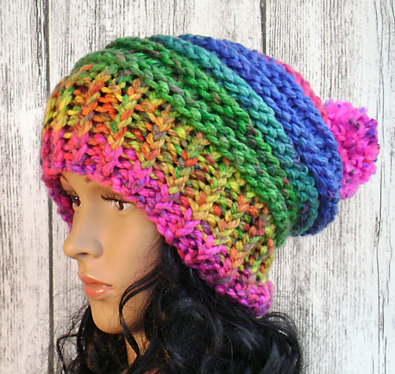 Festive Slouchy Hat - Knit Pattern - Women's  at Makerist - Image 1