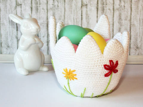 Egg Basket, Easter Basket - Crochet Pattern