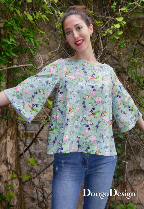 PDF pattern E-Book Jerseyshirt Kaethe with instructions