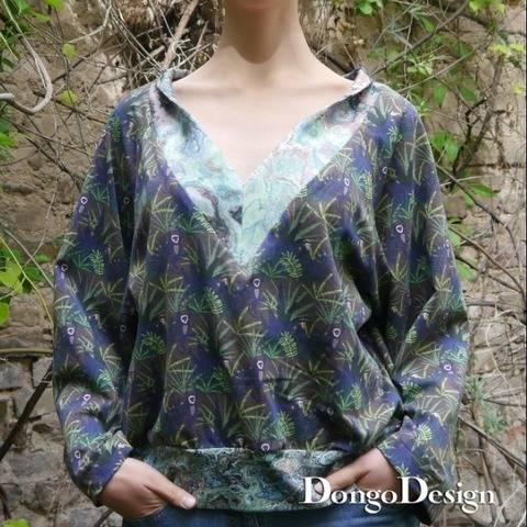PDF pattern E-Book Jerseyshirt Athene with instructions