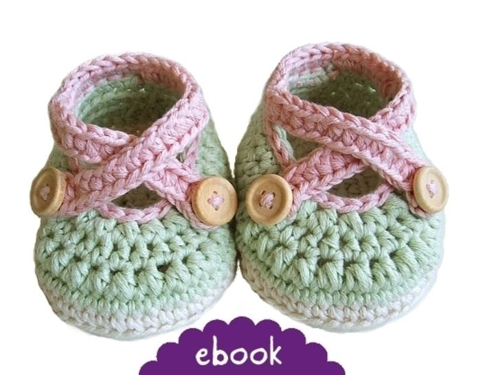 ❤ Häkelanleitung ❤ Cross Strap Baby Loafers bei Makerist - Bild 1