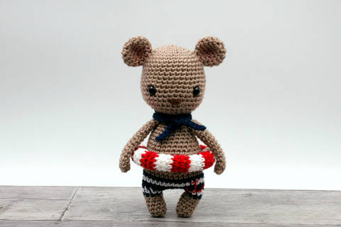 Amigurumi mini ours MALO - tutoriel de crochet chez Makerist