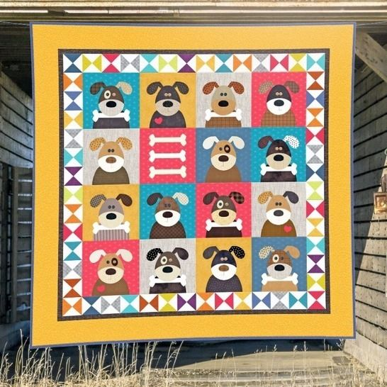 Harry and the Hound Dogs - Quilt Pattern at Makerist - Image 1