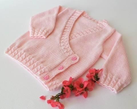 Baby cache-cœur 6 mois - tutoriel tricot bébé PDF