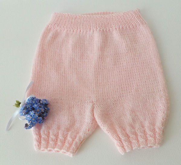 Baby short 3 mois - tutoriel tricot bébé PDF chez Makerist - Image 1
