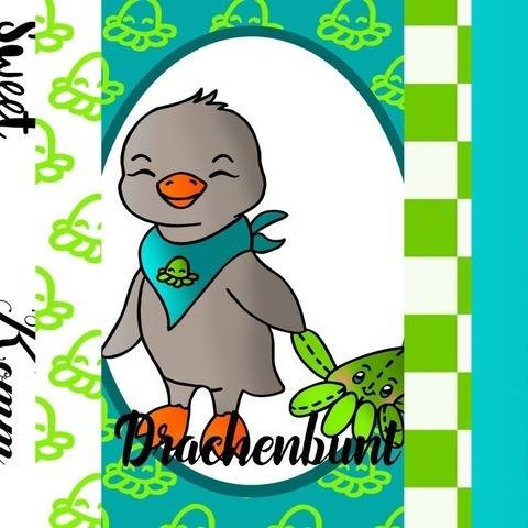 Digistamps Set Digital Paper Pinguin mit Krake unisex bei Makerist
