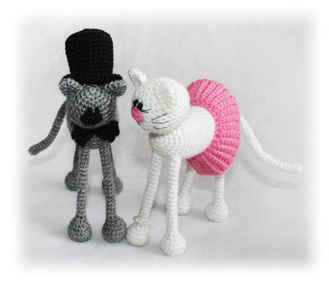 Casper and Katy Cats Crochet Pattern