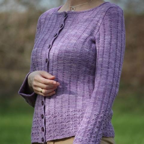 Strickanleitung Cardigan Sugared Lilacs
