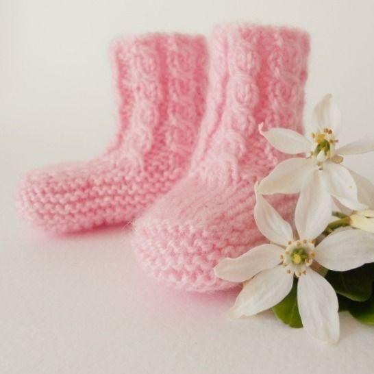 Baby chaussons 3 mois - tutoriel tricot bébé PDF chez Makerist - Image 1