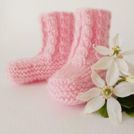 Baby chaussons 6 mois - tutoriel tricot bébé PDF chez Makerist - Image 1