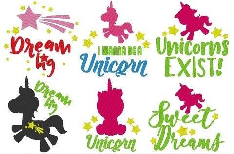 Unicorn Einhorn Stickdatei