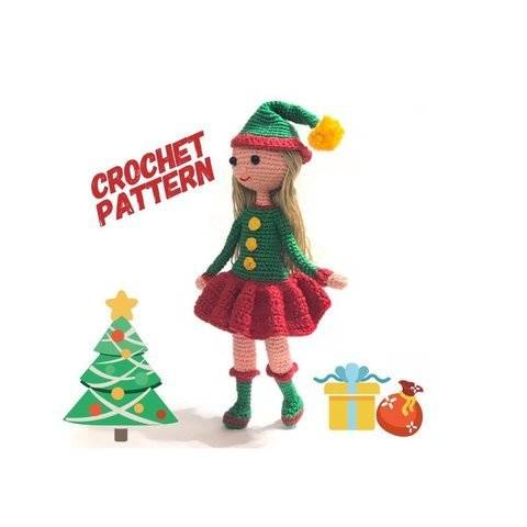 Christmas Elf amigurumi Doll