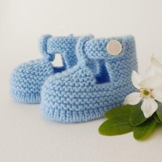 Chaussons Salomé naissance - tutoriel tricot bébé PDF chez Makerist - Image 1