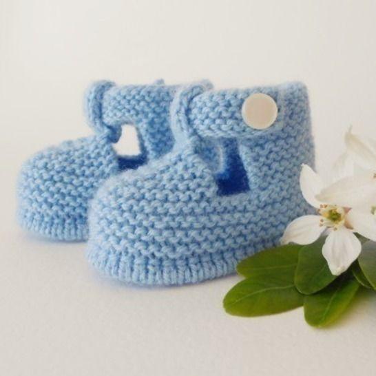 Chaussons Salomé 3 mois - tutoriel tricot bébé PDF chez Makerist - Image 1