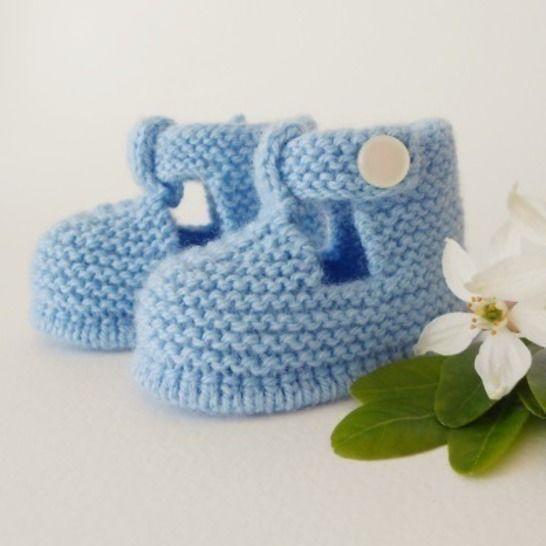 Chaussons Salomé 6 mois - tutoriel tricot bébé PDF chez Makerist - Image 1