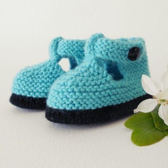 Chaussons Salomé bicolore 3 mois - tutoriel tricot bébé PDF chez Makerist - Image 1