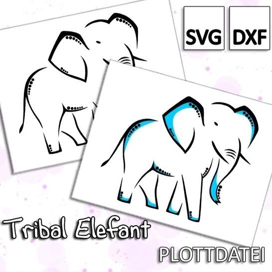Tribal Elefant - Plottdatei bei Makerist - Bild 1