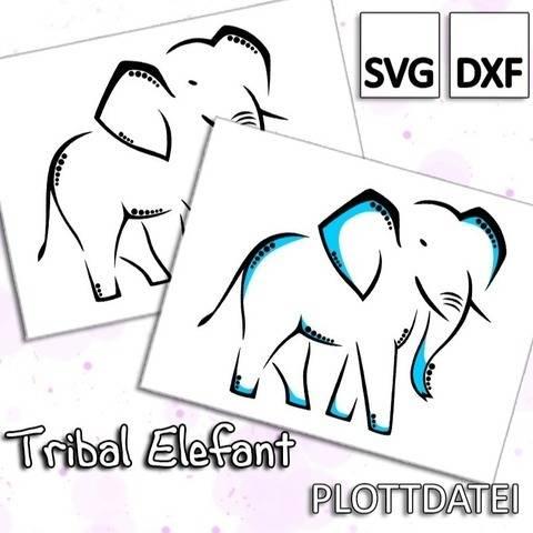 Tribal Elefant - Plottdatei