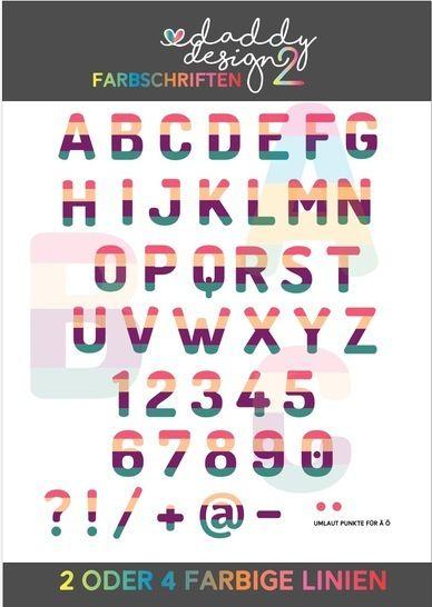 ALPHABET FARBIG 4 / 2 farbiges ABC 0-9 LINIEN Version  bei Makerist - Bild 1