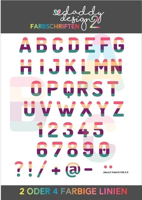 ALPHABET FARBIG 4 / 2 farbiges ABC 0-9 LINIEN Version