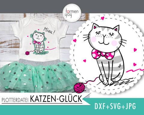 Katzen-Glück - Plotterdatei von formenfroh - dxf+svg+jpg