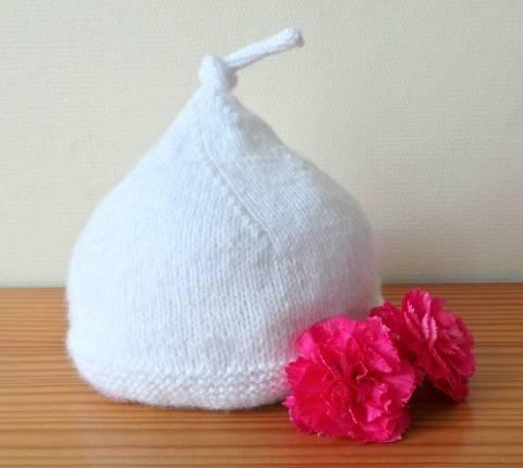 Bonnet Petit lutin 3 mois - tutoriel tricot bébé chez Makerist