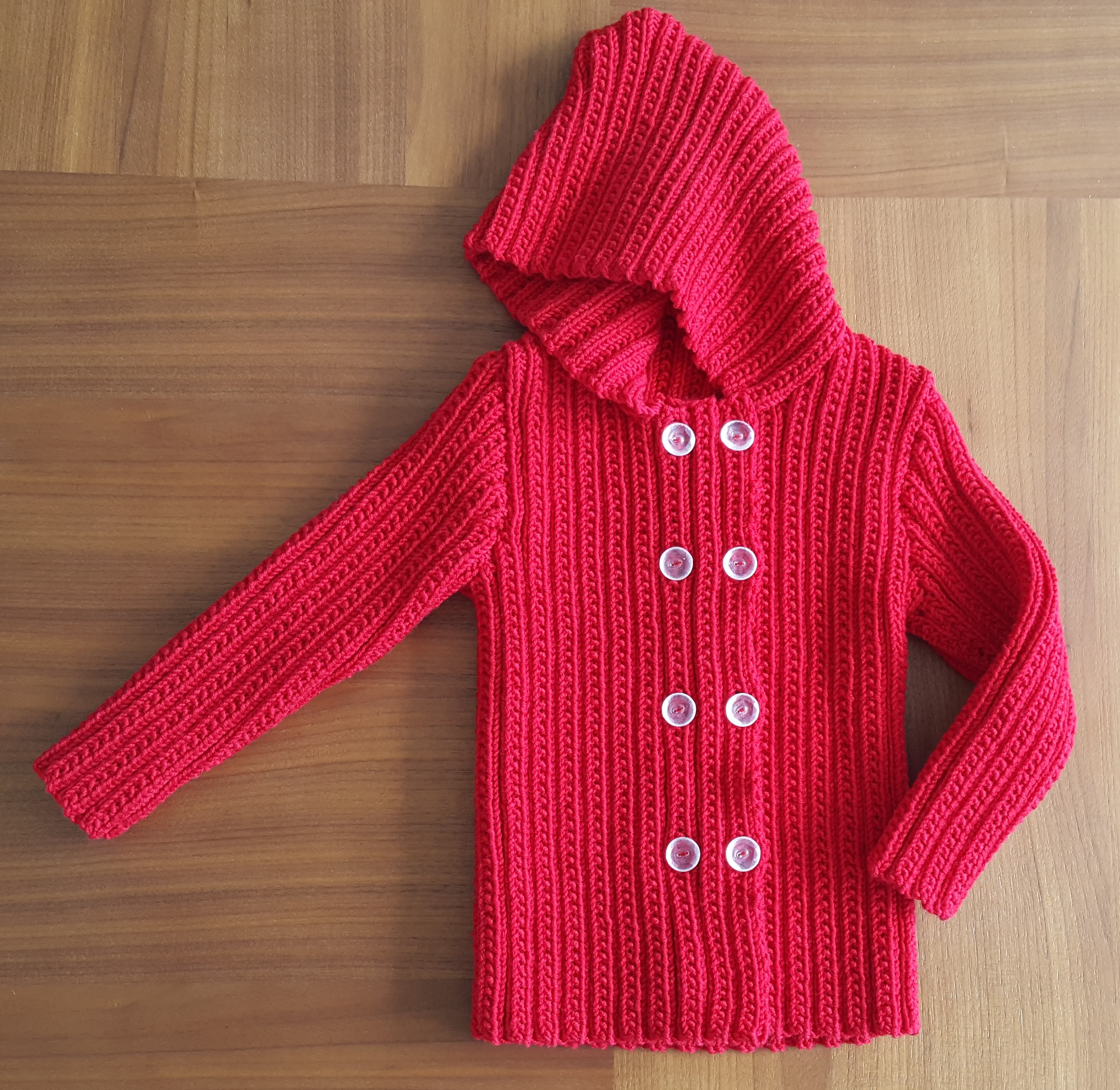 Child's double breasted jacket with hood - Paris