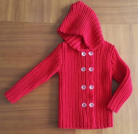 Child's double breasted jacket with hood - Paris at Makerist