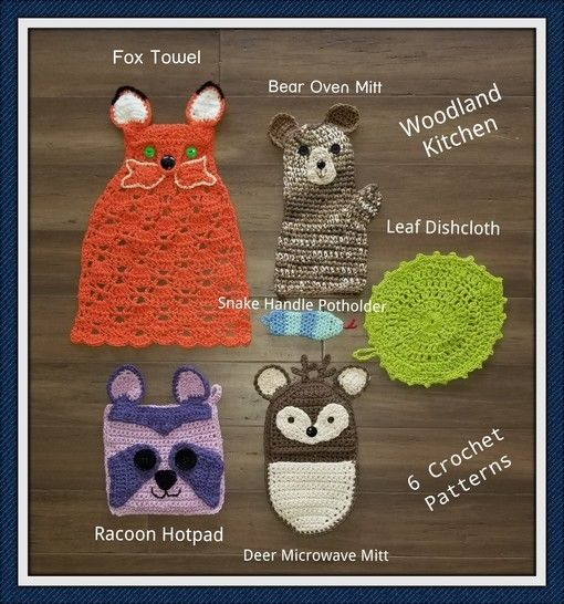 Woodland Kitchen Accessories to Crochet at Makerist - Image 1