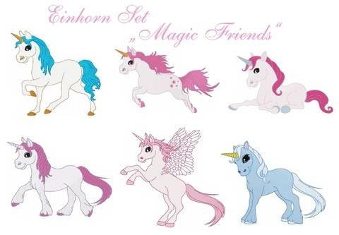 "Einhorn Set ""Magic Friends"" Stickdatei bei Makerist"