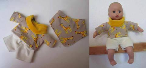 Sommer-Basics für Puppen, 3 Größen