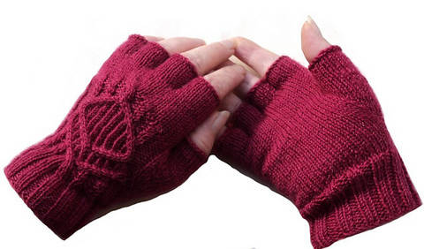 Mitaines Rubis - explication tricot