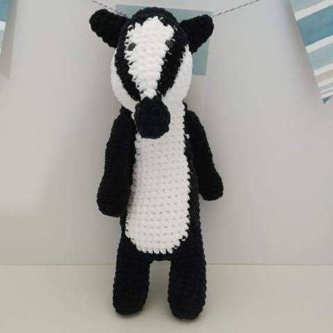 Amigurumi – Nina the badger - crochet – tutorial