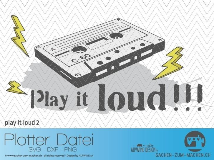 "Plotter-Datei ""play it loud"" #2 bei Makerist - Bild 1"