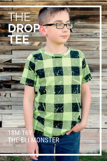 The Drop Tee Sewing Pattern, Sized 18m-16y at Makerist - Image 1