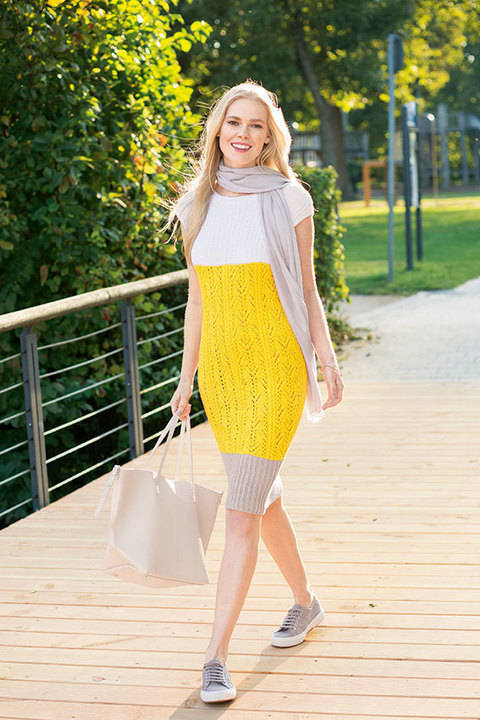 Dreifarbiges Kleid