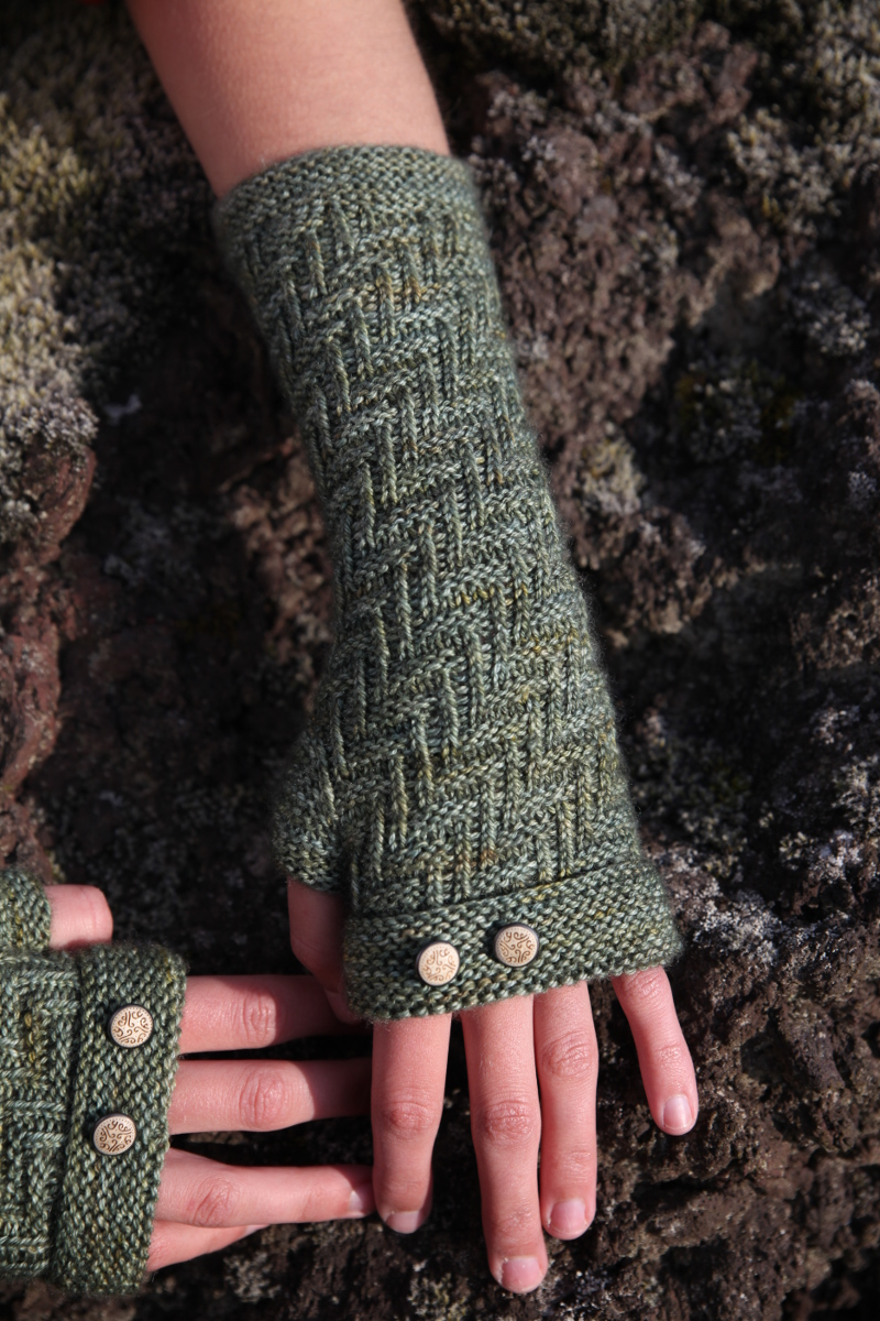 Mitaines Moss - explications tricot