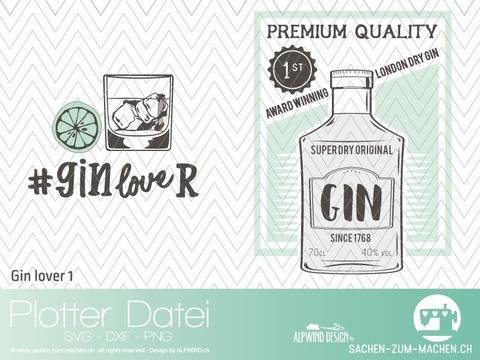 "Plotter-Datei ""GIN lover"" #1"
