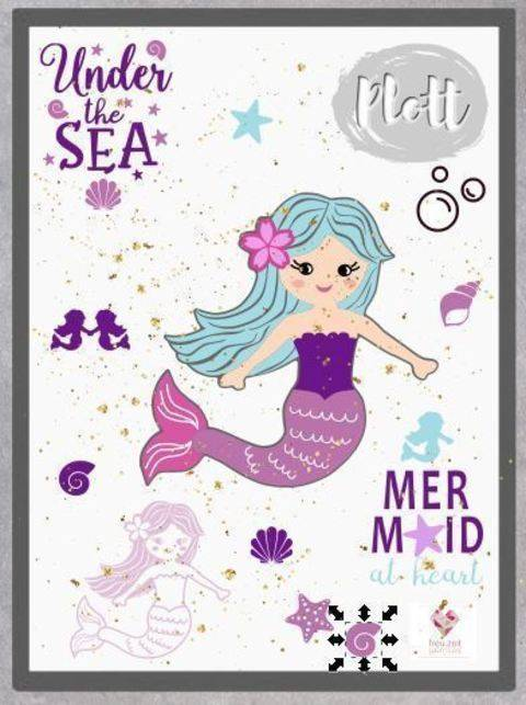 Plottdesign - Under the Sea - Meerjungfrau Leila bei Makerist