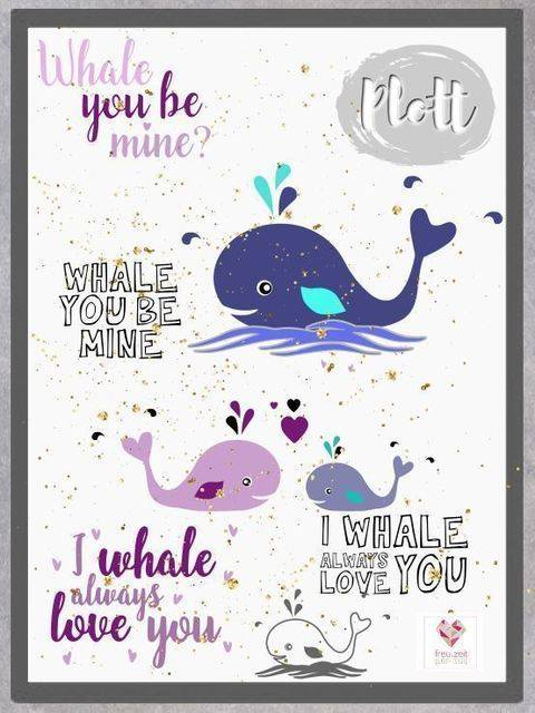 Plottdesign - Whale Love bei Makerist