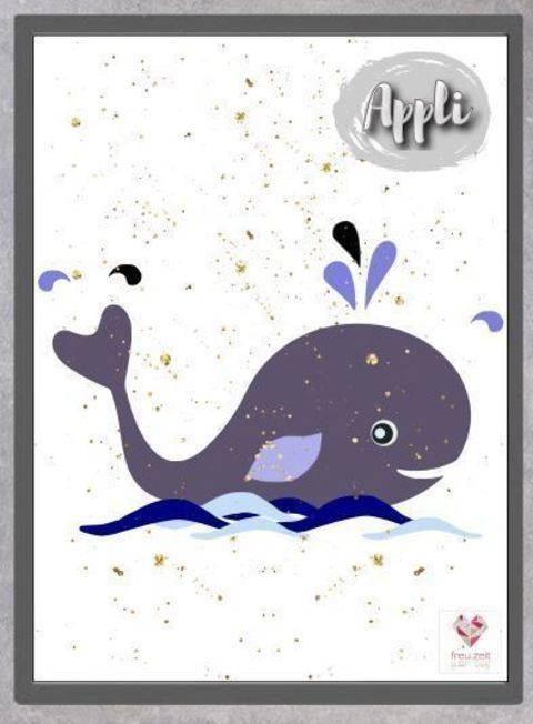 Appli-Vorlage/Ebook - Whale Love bei Makerist