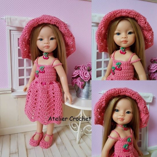 """""""Miss Cherry"""" crochet pattern for Paola Reina at Makerist - Image 1"""