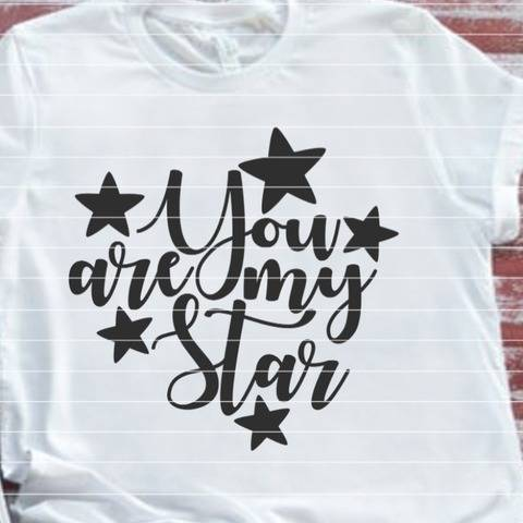Plotterdatei - You are my Star SVG DXF