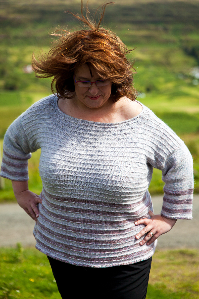 Pull femme Isay - explications tricot