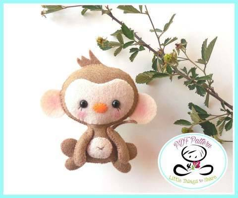 Baby Monkey pattern-DIY-monkey toy pattern-Jungle animals at Makerist