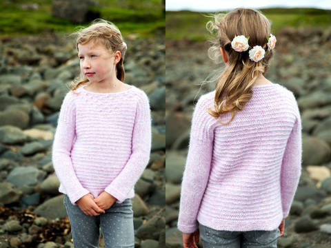 Pull enfant Isay 4-14a - explications tricot chez Makerist
