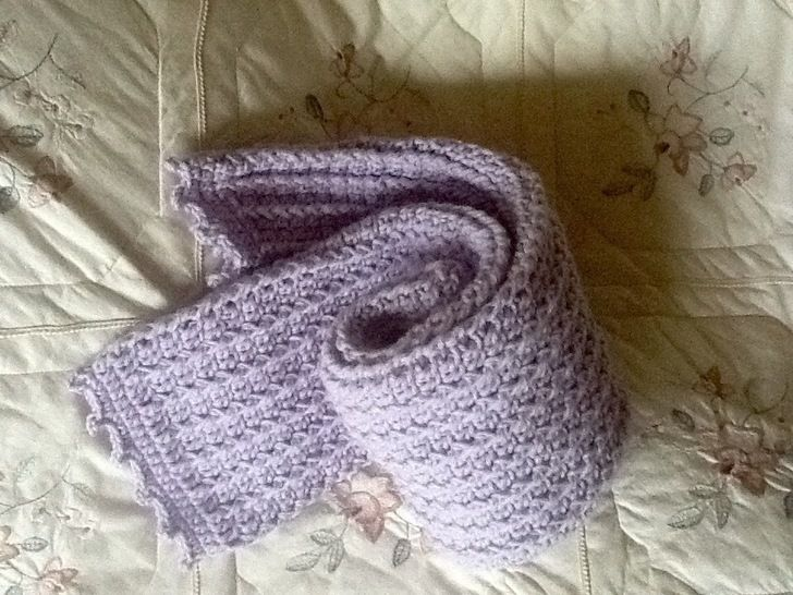 Classic Crocheted Scarf at Makerist - Image 1