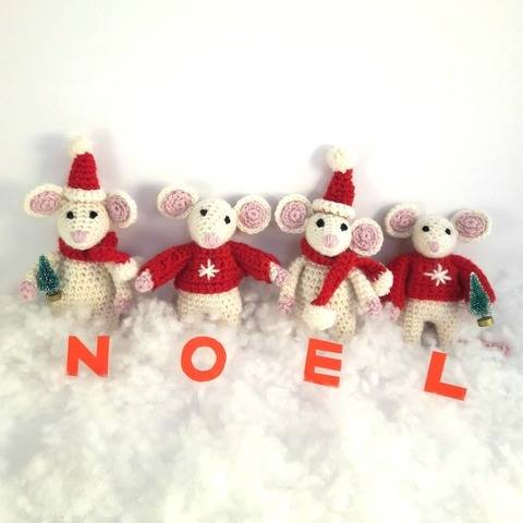 Christmas Mice Crochet Pattern at Makerist
