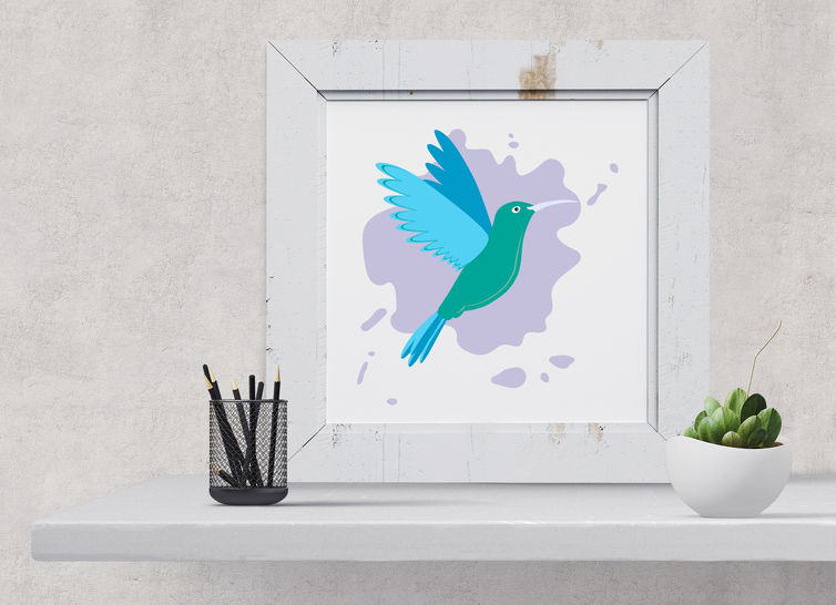 Kolibri Plottdatei Hummingbird Frau Pold  bei Makerist - Bild 1