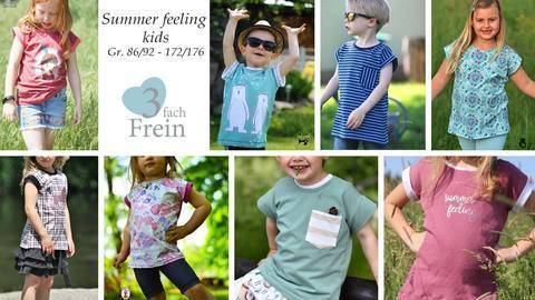 eBook T-Shirt Summer feeling Kids Gr.86/92-172/176 bei Makerist